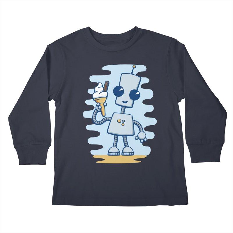 Ned's Ice Cream Kids Longsleeve T-Shirt by doodledojo's Artist Shop