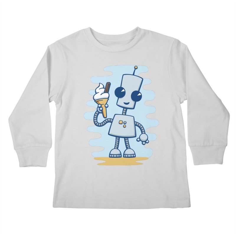 Ned's Ice Cream Kids Longsleeve T-Shirt by doodledojo's Artist Shop