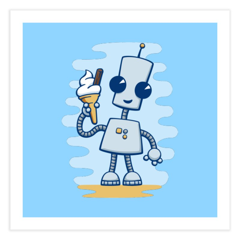Ned's Ice Cream Home Fine Art Print by doodledojo's Artist Shop