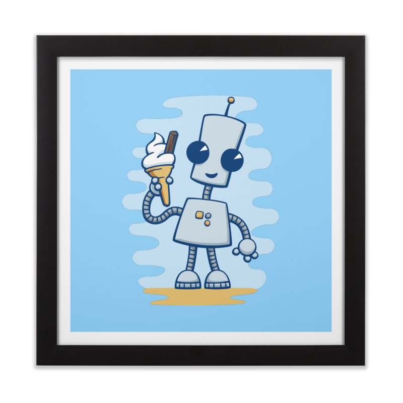 Ned's Ice Cream Home Framed Fine Art Print by doodledojo's Artist Shop
