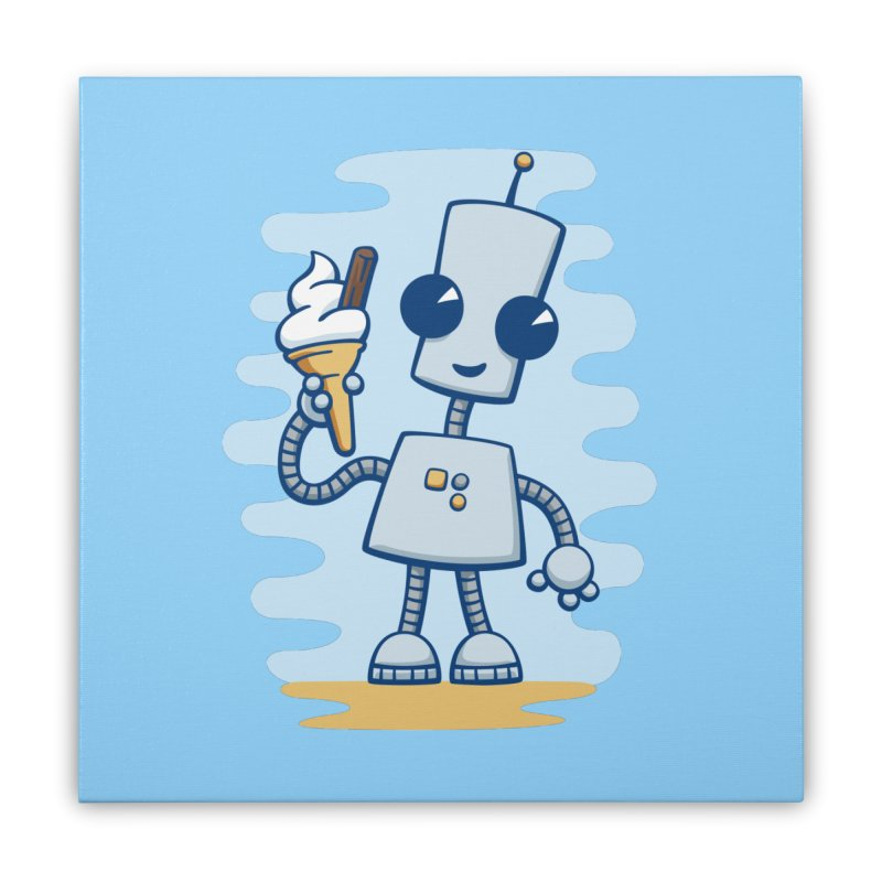 Ned's Ice Cream Home Stretched Canvas by doodledojo's Artist Shop