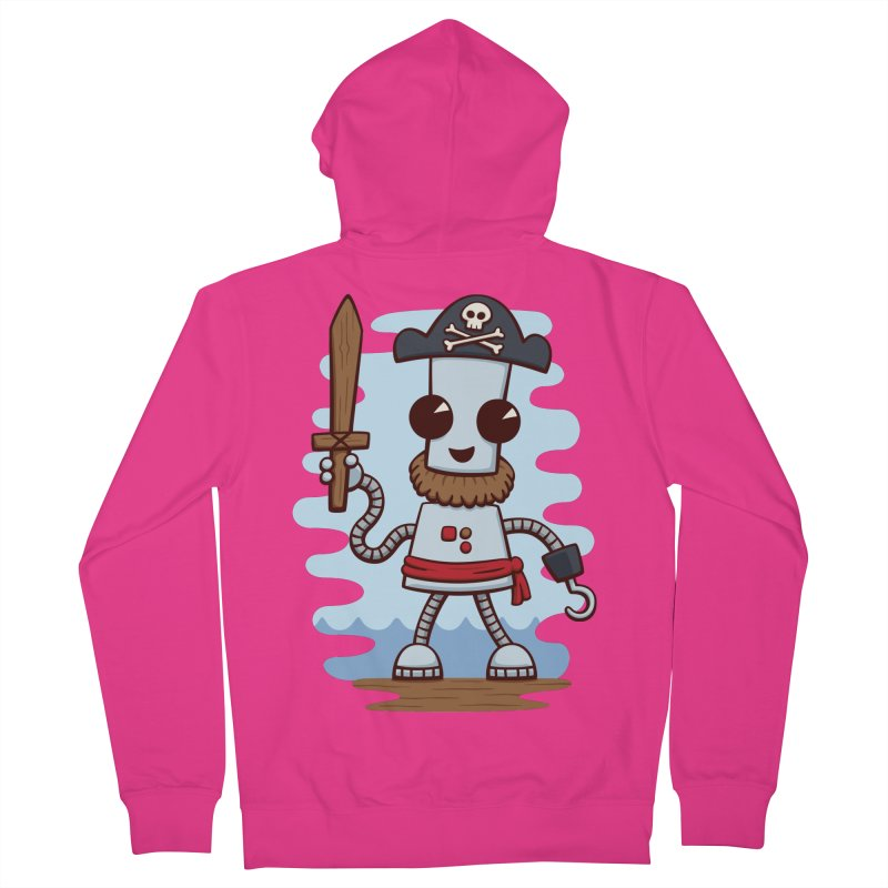 Pirate Ned Men's French Terry Zip-Up Hoody by doodledojo's Artist Shop