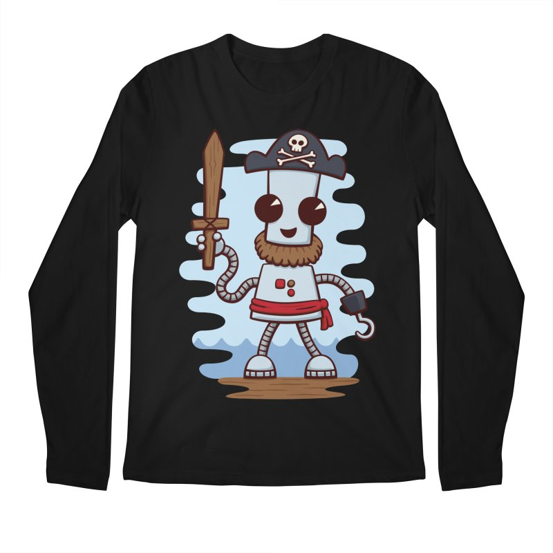 Pirate Ned Men's Regular Longsleeve T-Shirt by doodledojo's Artist Shop