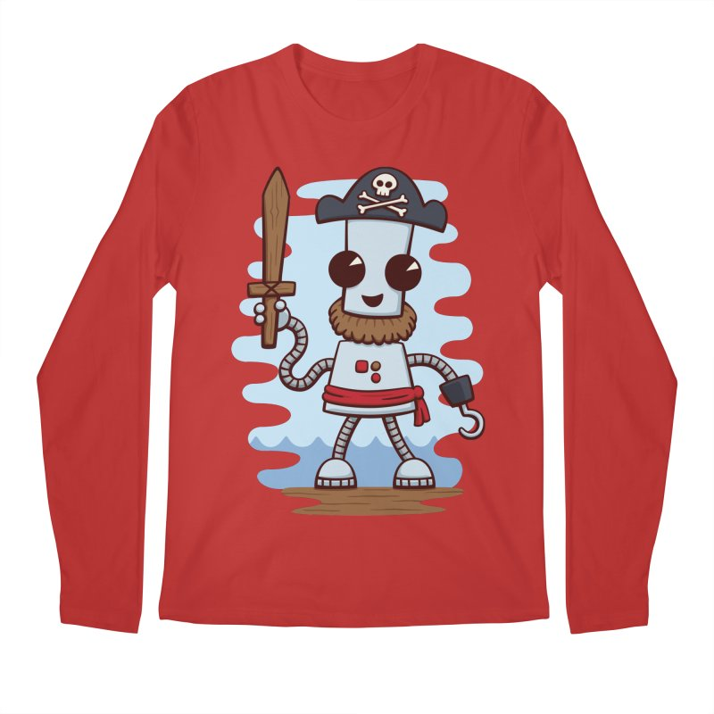 Pirate Ned Men's Regular Longsleeve T-Shirt by doodledojo's Artist Shop