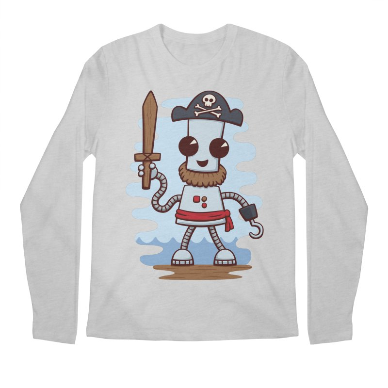 Pirate Ned Men's Longsleeve T-Shirt by doodledojo's Artist Shop