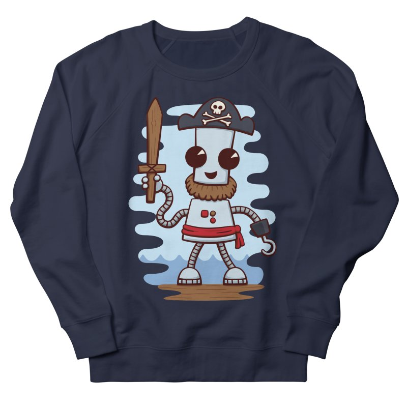 Pirate Ned Men's French Terry Sweatshirt by doodledojo's Artist Shop