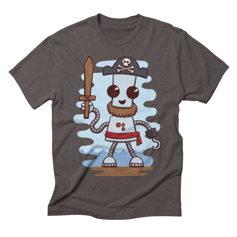 Pirate Ned Men's Triblend T-shirt by doodledojo's Artist Shop