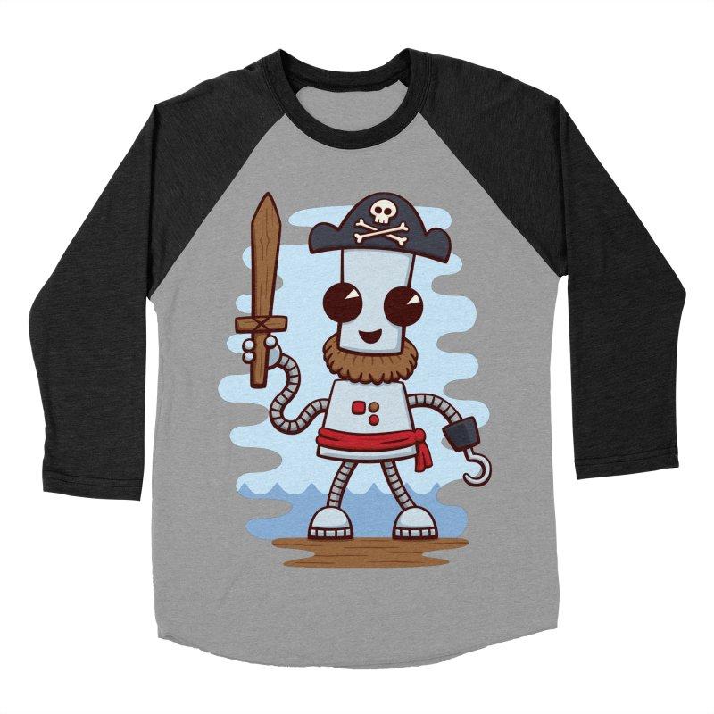 Pirate Ned Women's Baseball Triblend T-Shirt by doodledojo's Artist Shop