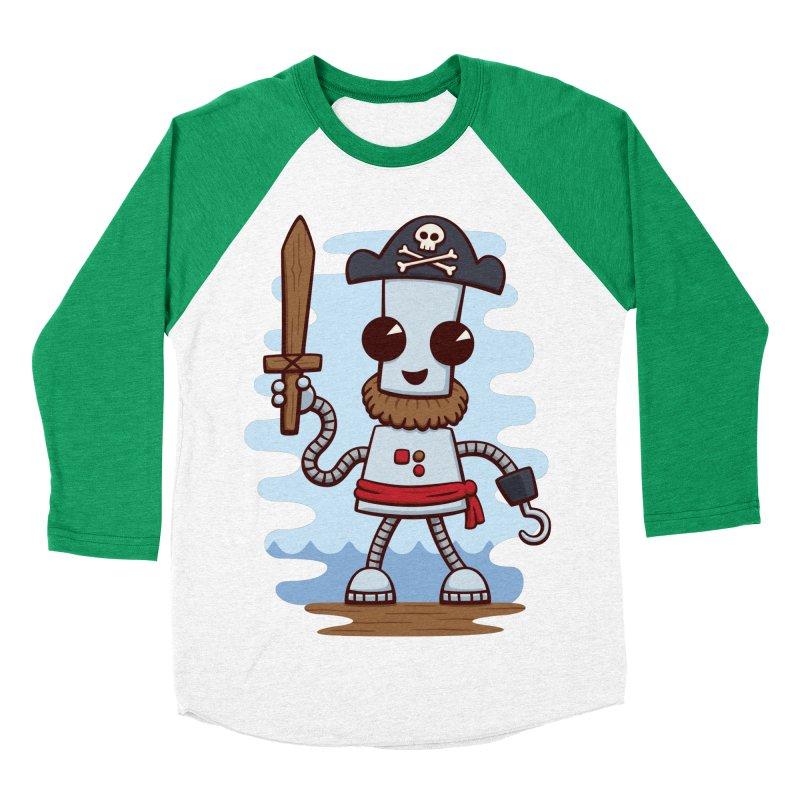 Pirate Ned Men's Baseball Triblend T-Shirt by doodledojo's Artist Shop