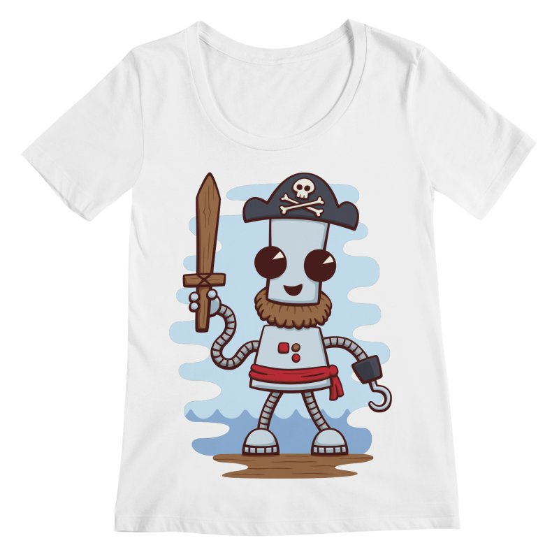 Pirate Ned Women's Scoopneck by doodledojo's Artist Shop