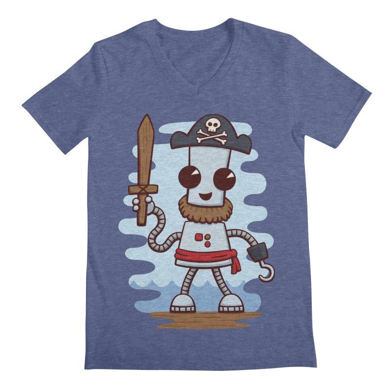 Pirate Ned Men's V-Neck by doodledojo's Artist Shop