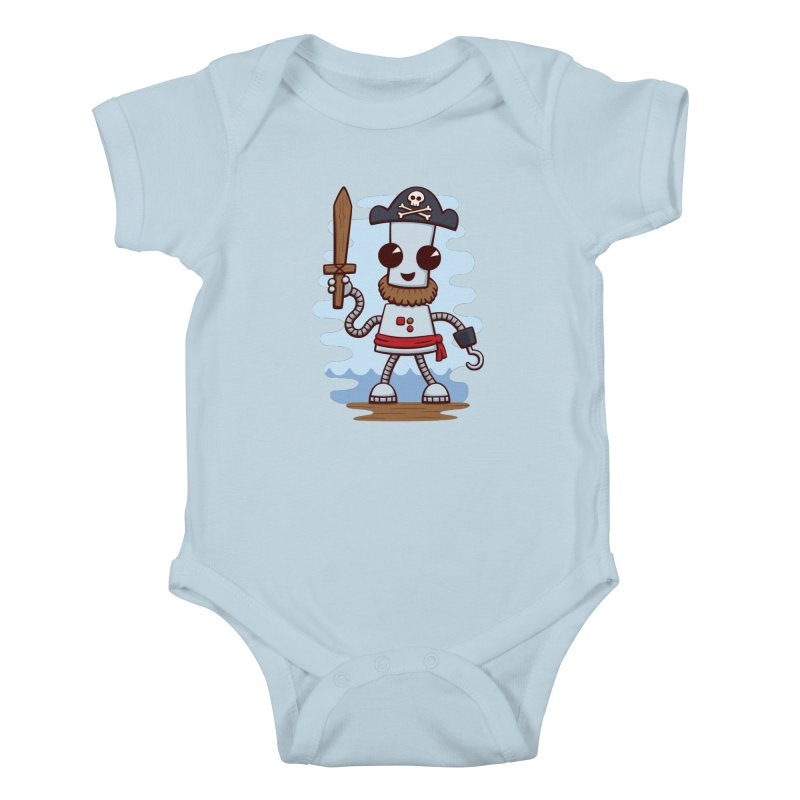 Pirate Ned Kids Baby Bodysuit by doodledojo's Artist Shop