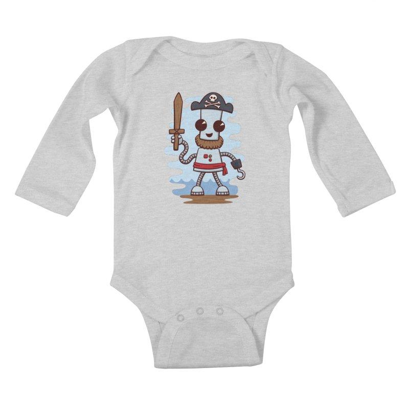 Pirate Ned Kids Baby Longsleeve Bodysuit by doodledojo's Artist Shop