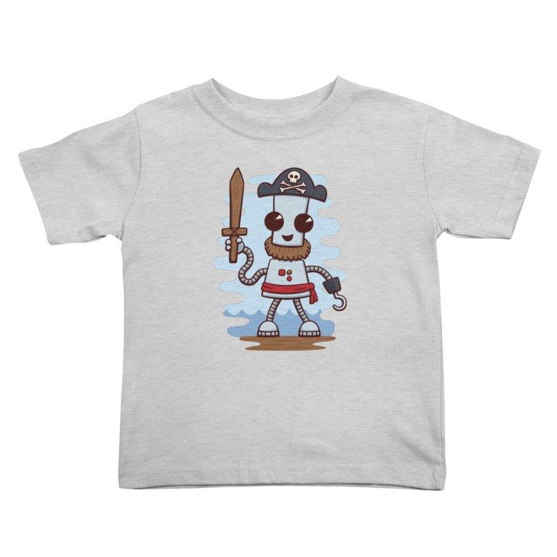 Pirate Ned Kids Toddler T-Shirt by doodledojo's Artist Shop
