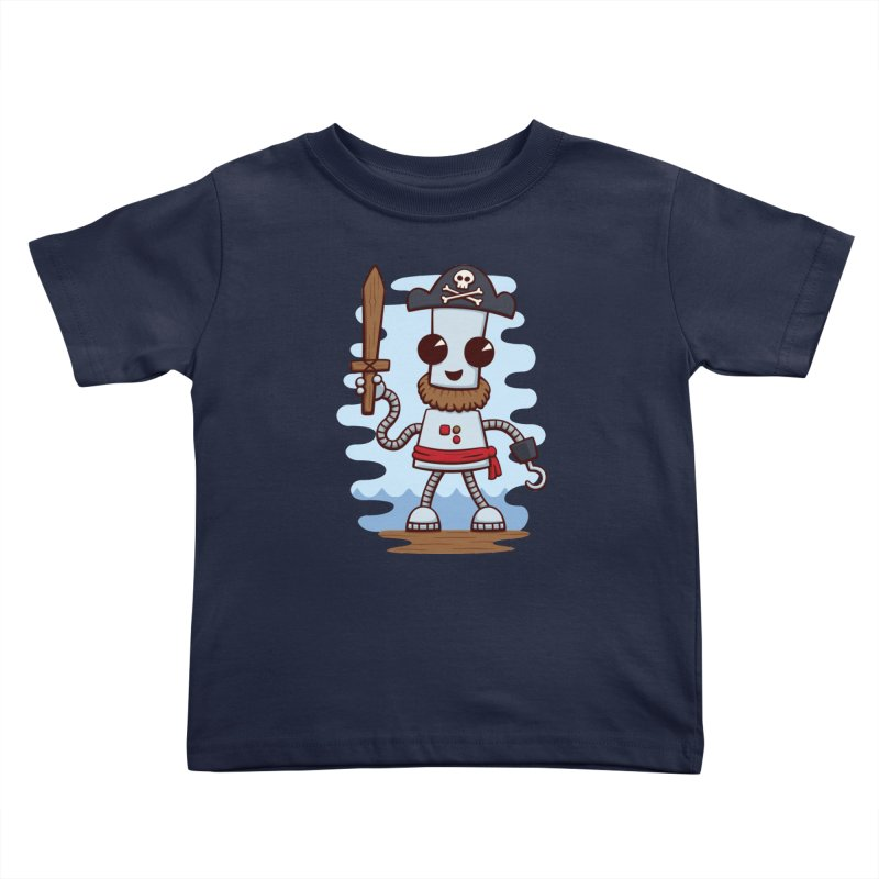 Pirate Ned Kids Toddler T-Shirt by doodledojo's Artist Shop