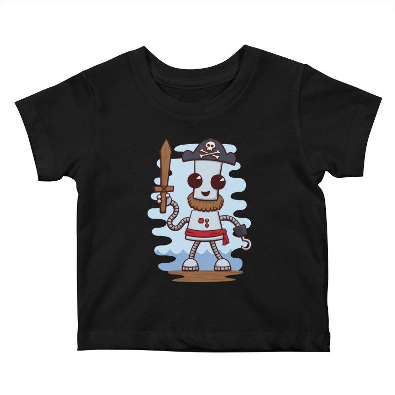 Pirate Ned Kids Baby T-Shirt by doodledojo's Artist Shop