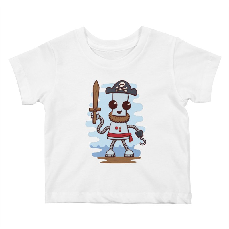 Pirate Ned Kids Baby T-Shirt by doodledojo's Artist Shop
