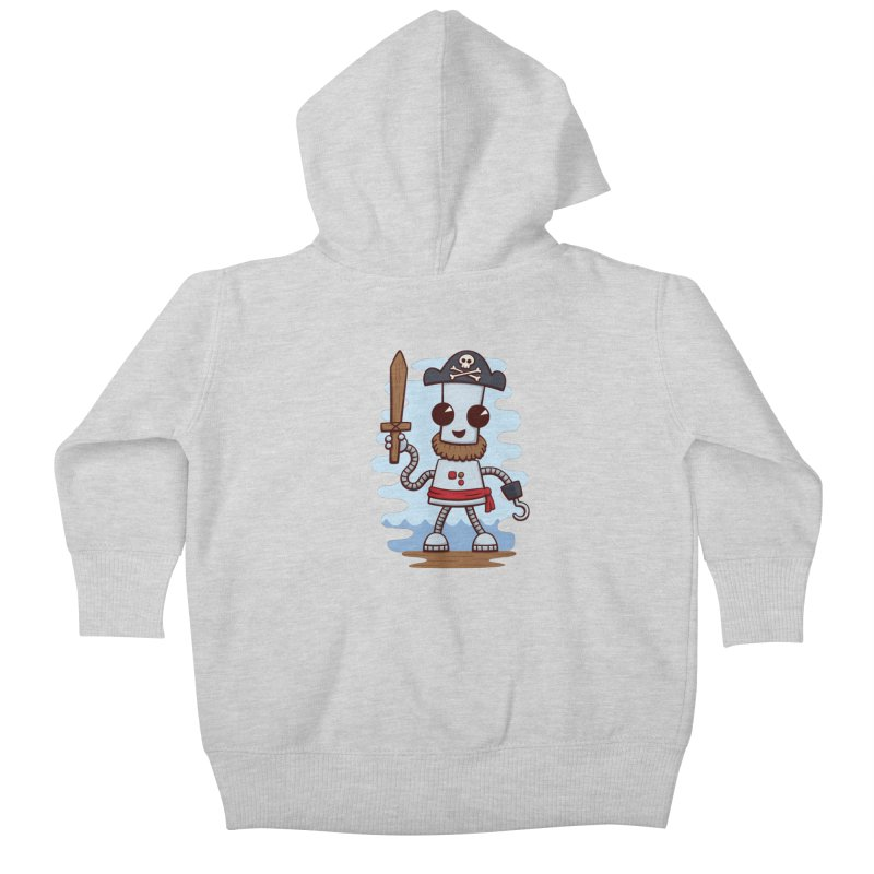 Pirate Ned Kids Baby Zip-Up Hoody by doodledojo's Artist Shop