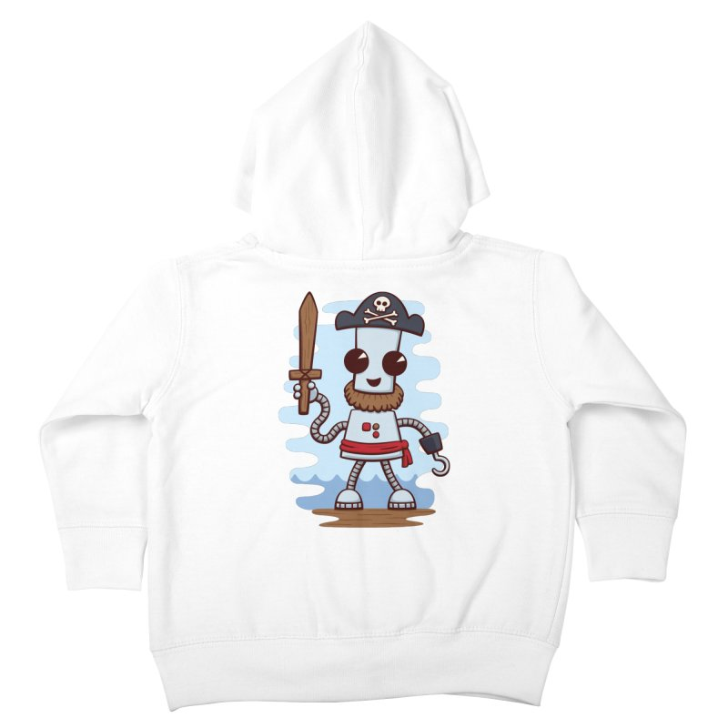 Pirate Ned Kids Toddler Zip-Up Hoody by doodledojo's Artist Shop