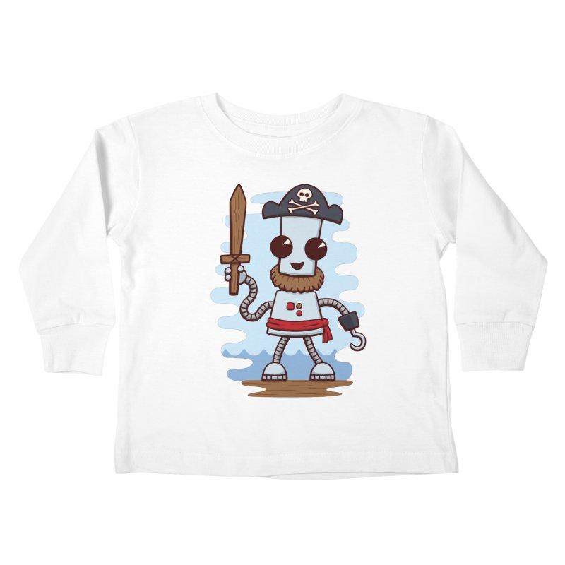 Pirate Ned Kids Toddler Longsleeve T-Shirt by doodledojo's Artist Shop