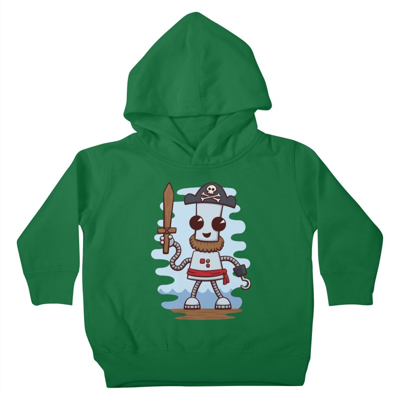 Pirate Ned Kids Toddler Pullover Hoody by doodledojo's Artist Shop