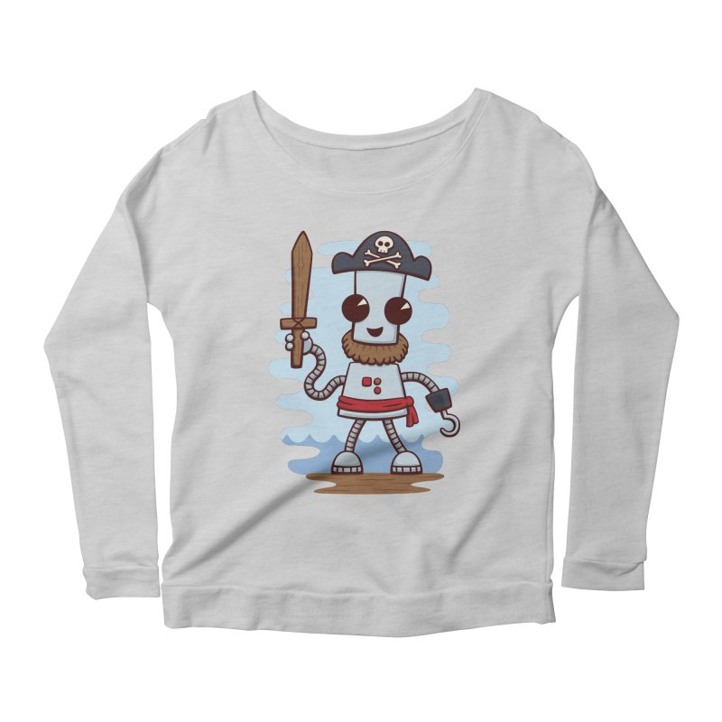 Pirate Ned Women's Longsleeve Scoopneck  by doodledojo's Artist Shop