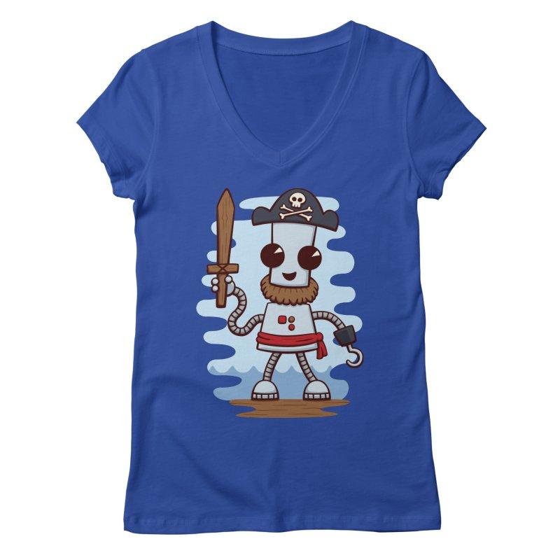 Pirate Ned Women's V-Neck by doodledojo's Artist Shop