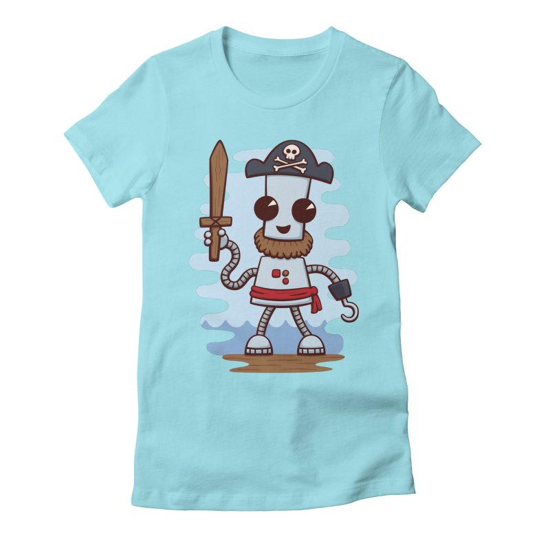 Pirate Ned Women's Fitted T-Shirt by doodledojo's Artist Shop
