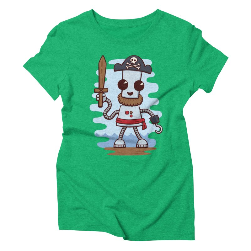 Pirate Ned Women's Triblend T-Shirt by doodledojo's Artist Shop
