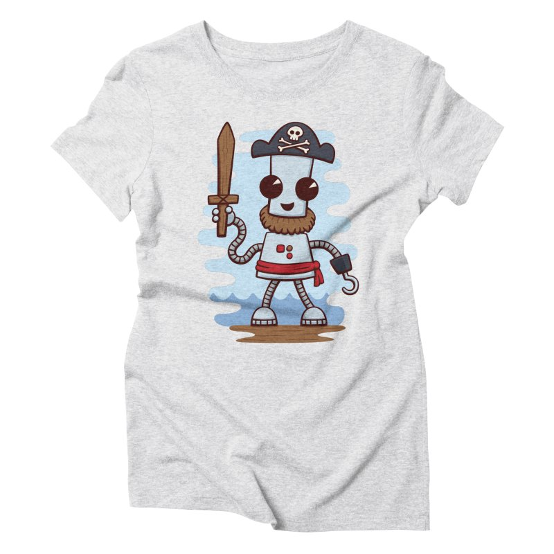 Pirate Ned Women's Triblend T-Shirt by doodledojo's Artist Shop