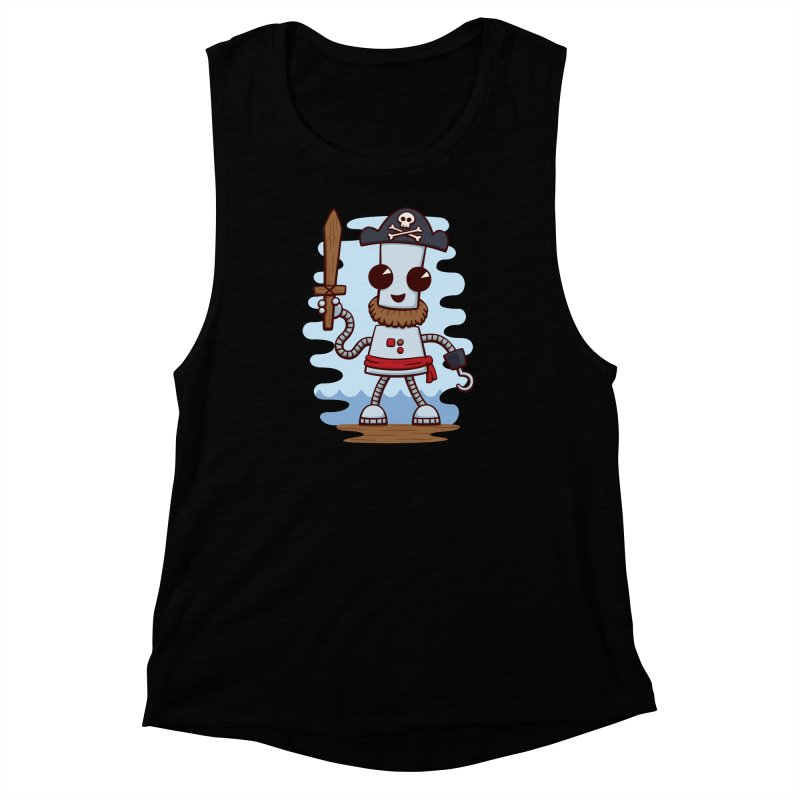 Pirate Ned Women's Muscle Tank by doodledojo's Artist Shop