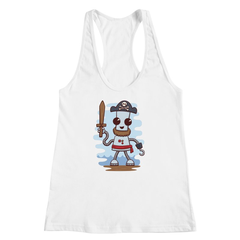 Pirate Ned Women's Racerback Tank by doodledojo's Artist Shop