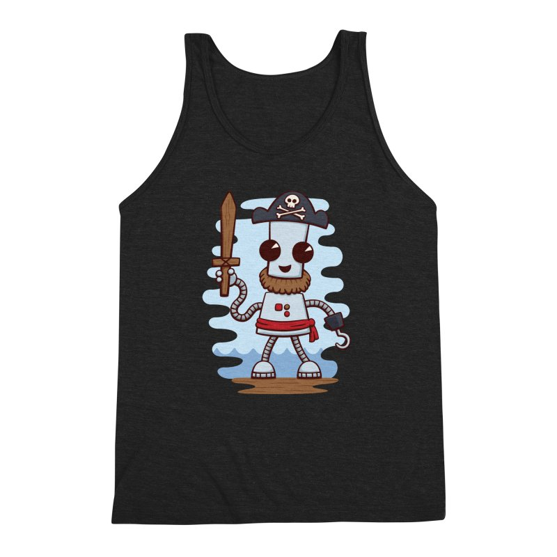 Pirate Ned Men's Triblend Tank by doodledojo's Artist Shop