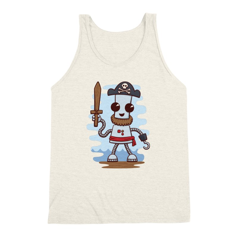 Pirate Ned Men's Triblend Tank by doodledojo's Artist Shop