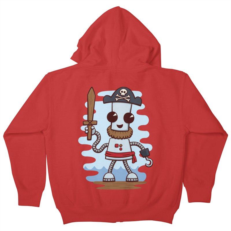 Pirate Ned Kids Zip-Up Hoody by doodledojo's Artist Shop