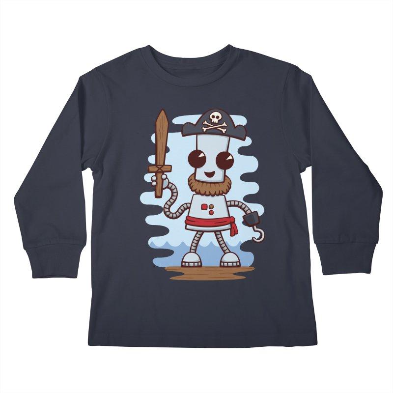 Pirate Ned Kids Longsleeve T-Shirt by doodledojo's Artist Shop