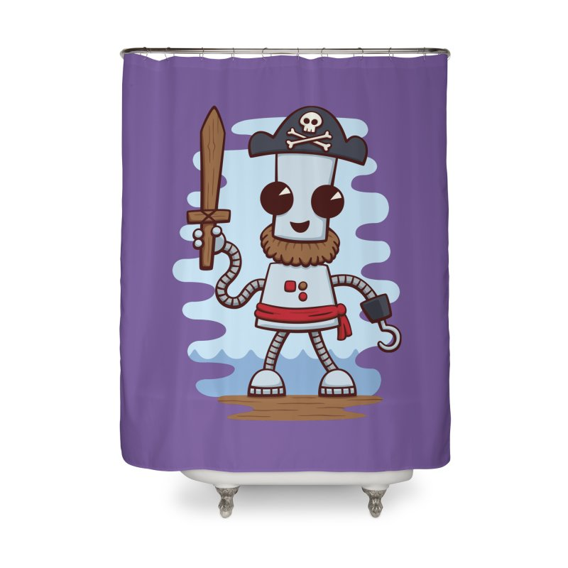 Pirate Ned Home Shower Curtain by doodledojo's Artist Shop