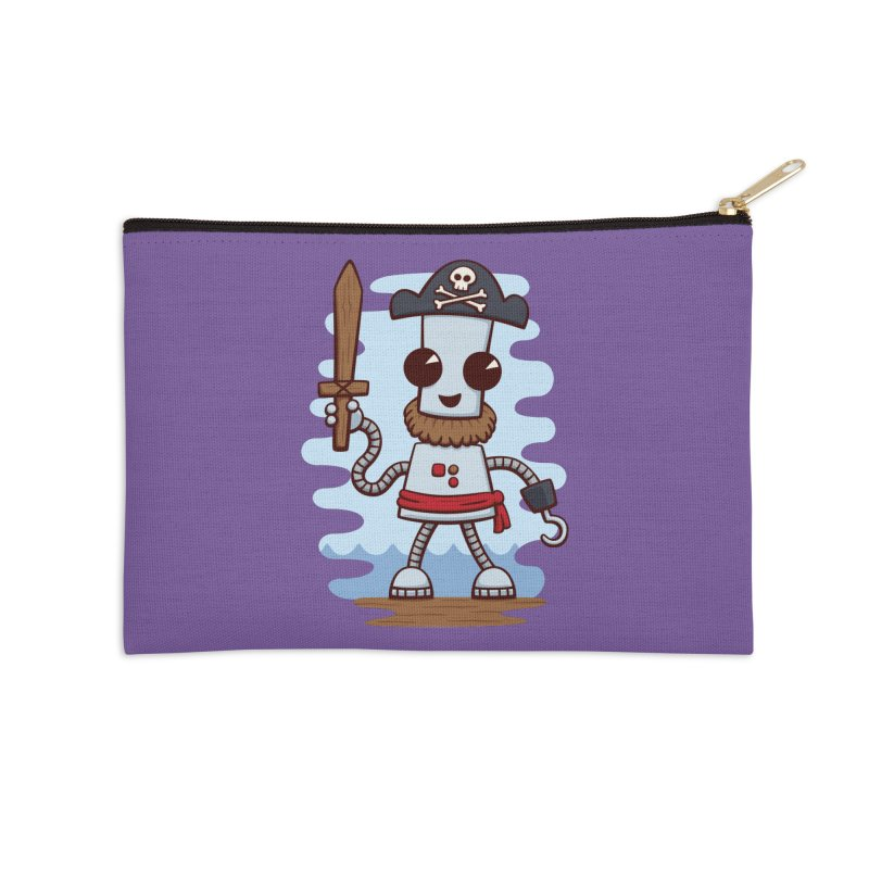 Pirate Ned Accessories Zip Pouch by doodledojo's Artist Shop