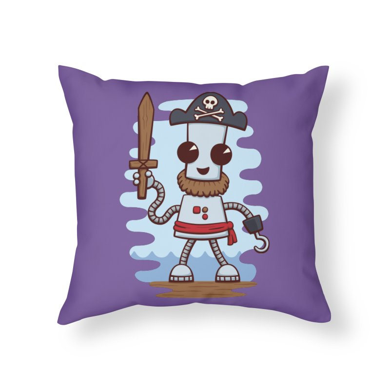 Pirate Ned Home Throw Pillow by doodledojo's Artist Shop