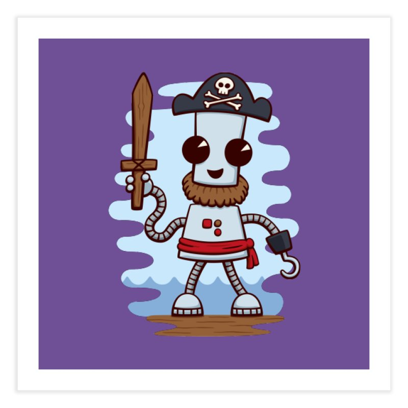 Pirate Ned Home Fine Art Print by doodledojo's Artist Shop