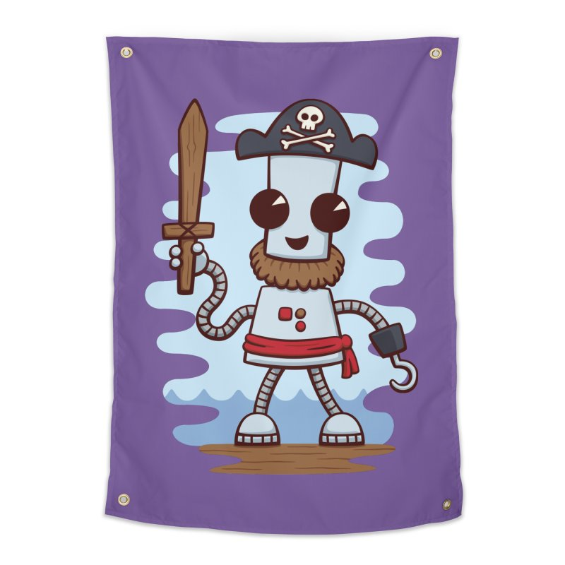 Pirate Ned Home Tapestry by doodledojo's Artist Shop