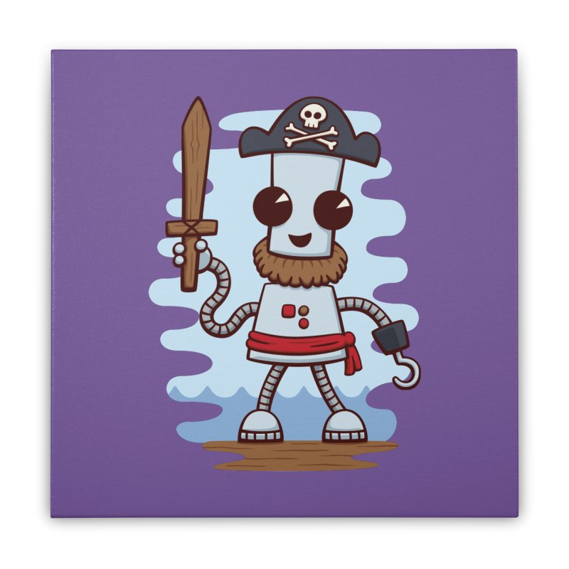 Pirate Ned Home Stretched Canvas by doodledojo's Artist Shop