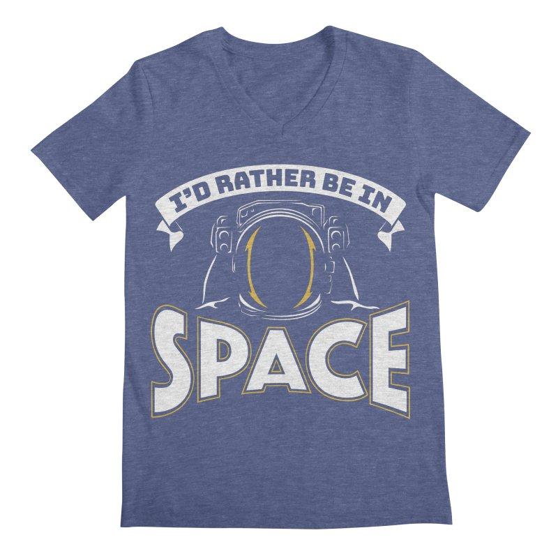 I'd Rather be in Space Men's V-Neck by doodledojo's Artist Shop