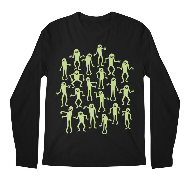 Zombie Dance Men's Regular Longsleeve T-Shirt by doodledojo's Artist Shop