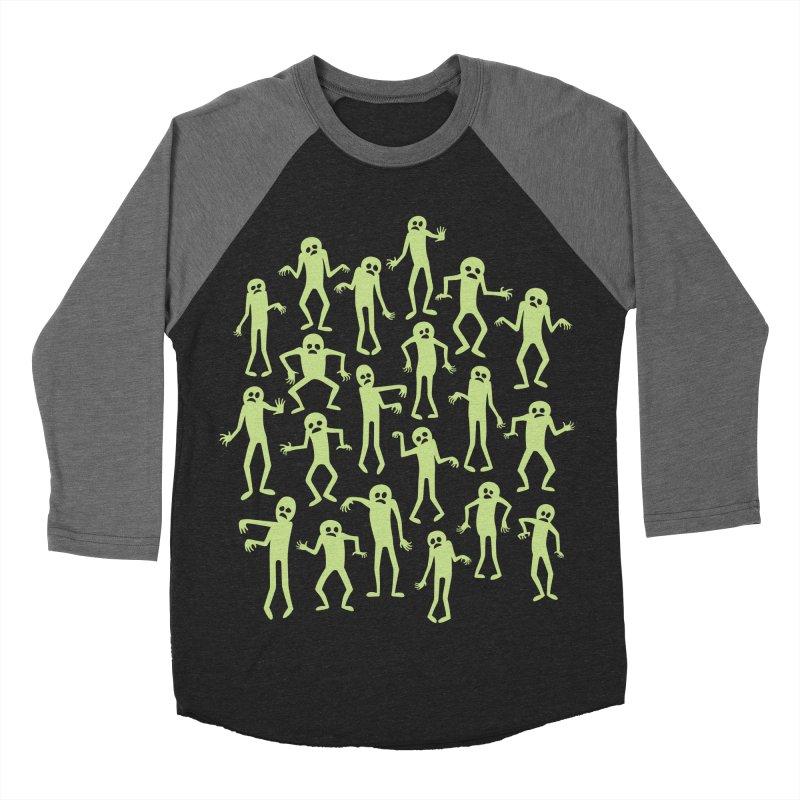 Zombie Dance Men's Baseball Triblend T-Shirt by doodledojo's Artist Shop