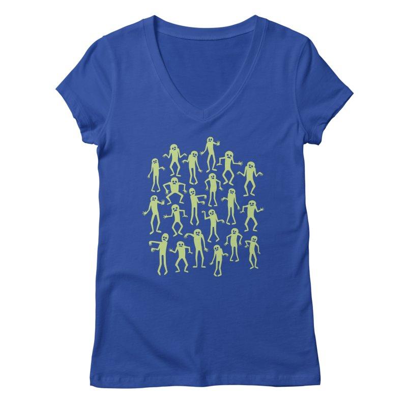 Zombie Dance Women's V-Neck by doodledojo's Artist Shop