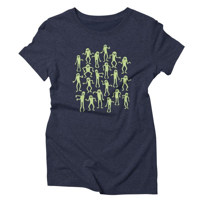 Zombie Dance Women's Triblend T-Shirt by doodledojo's Artist Shop