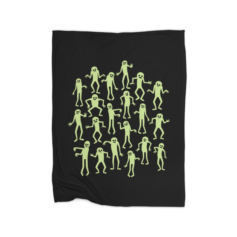 Zombie Dance Home Blanket by doodledojo's Artist Shop