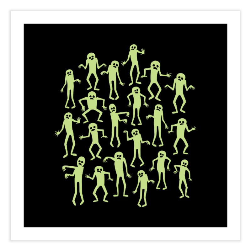 Zombie Dance Home Fine Art Print by doodledojo's Artist Shop