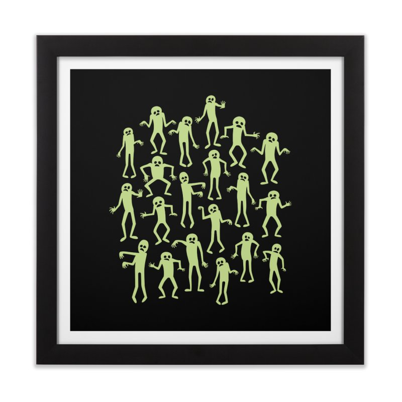 Zombie Dance Home Framed Fine Art Print by doodledojo's Artist Shop